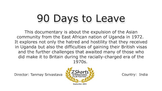 90 Days to Leave Intro 2109