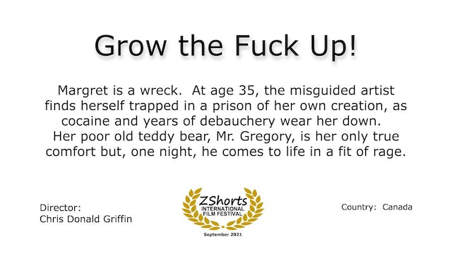 Grow the Fuck Up Intro 2109