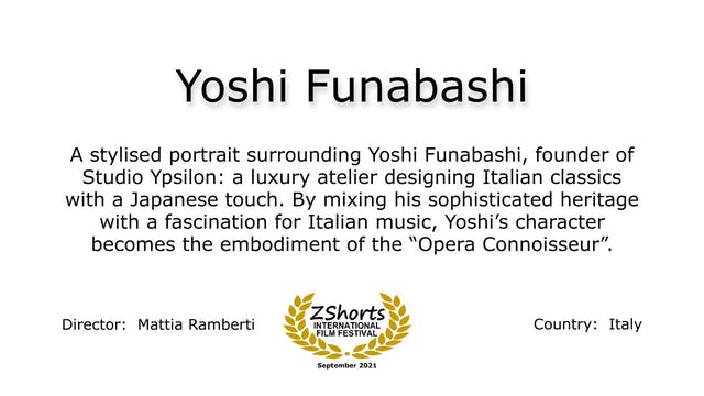 Yoshi Funabashi Intro 2109