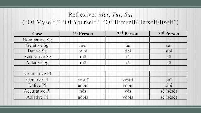 Basics of Latin - Session 16 - Reflexives, Possessives, and Intensives
