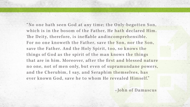 The Triune God, A Video Study - Session 2 - Revelation of the Triune God, Part One
