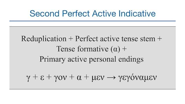 Basics of Biblical Greek - Session 25 - Perfect Indicative