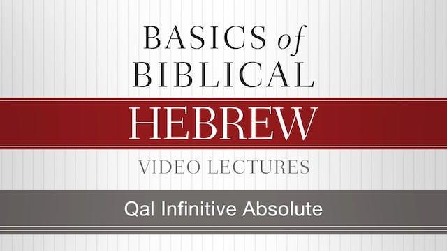 Basics of Biblical Hebrew - Session 2...