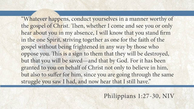 Philippians, A Video Study - Session 5 - Philippians 1:27-30