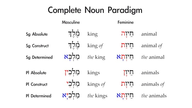 Basics of Biblical Aramaic - Session 6 - Nouns: Construct State