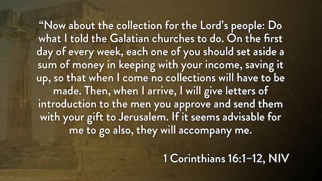1 Corinthians - Session 34 - 1 Corinthians 16:1-12