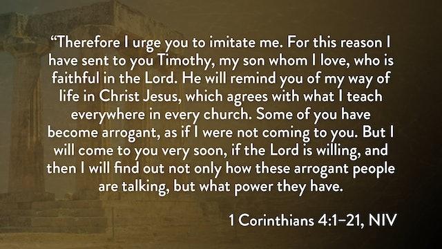 1 Corinthians - Session 10 - 1 Corinthians 4:1-21