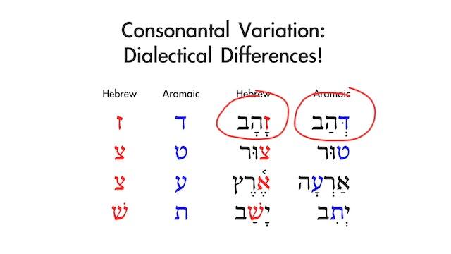 Basics of Biblical Aramaic - Session 1 - Alphabet