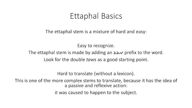 Basics of Classical Syriac - Session 16 - Ettaphal