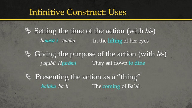 Basics of Ancient Ugaritic - Session 9: Infinitives
