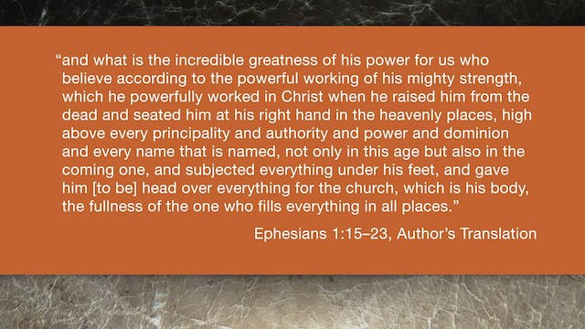 Ephesians (ZECNT) - Session 4 - Ephes...