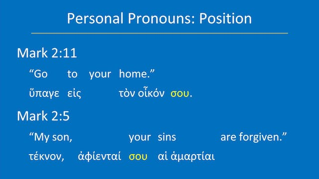 Greek for the Rest of Us - Lesson 22 ...