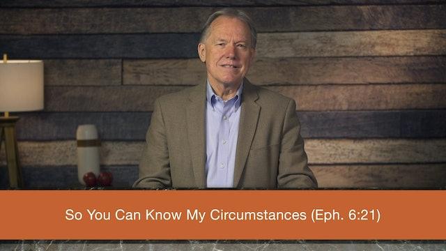 Ephesians (ZECNT) - Session 18 - Ephesians 6:21-24
