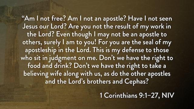 1 Corinthians - Session 18 - 1 Corinthians 9:1-27