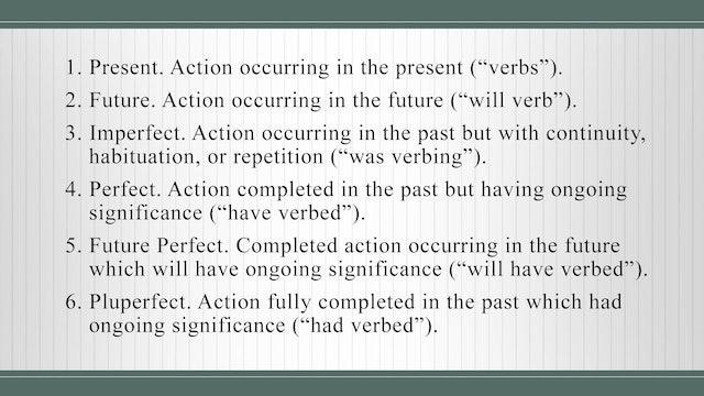 Basics of Latin - Session 9 - Verbs and Four Principal Parts