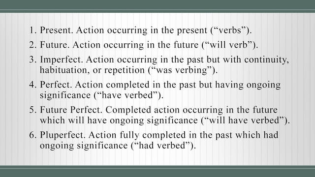 Basics of Latin - Session 9 - Verbs a...