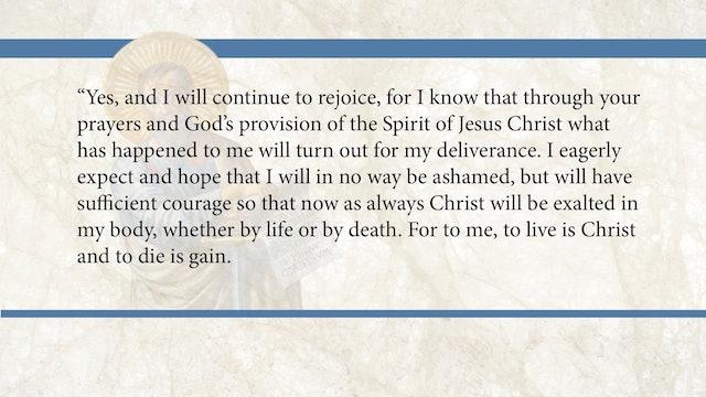 Philippians, A Video Study - Session 4 - Philippians 1:18b-26