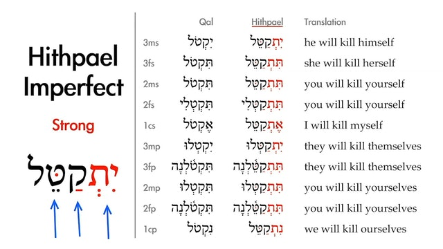 Basics of Biblical Hebrew - Session 34 - The Hithpael Stem Strong Verbs