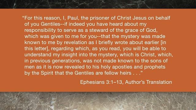 Ephesians (ZECNT) - Session 7 - Ephesians 3:1-13