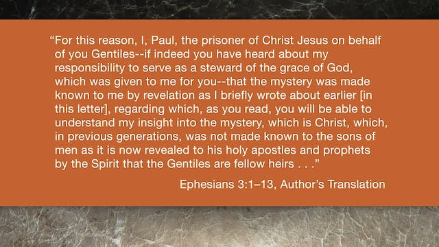 Ephesians (ZECNT) - Session 7 - Ephes...