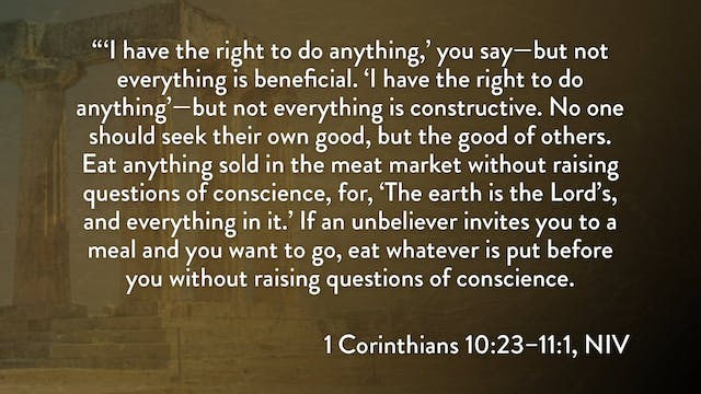1 Corinthians - Session 21 - 1 Corint...