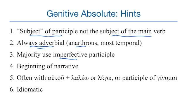 Basics of Biblical Greek - Session 30...