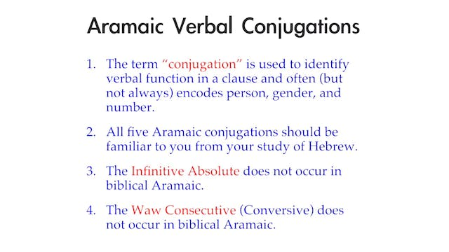 Basics of Biblical Aramaic - Session ...