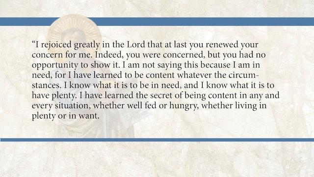 Philippians, A Video Study - Session 14 - Philippians 4:10-20