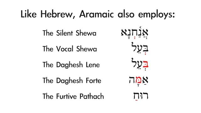 Basics of Biblical Aramaic - Session 2 - Vowels