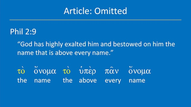 Greek for the Rest of Us - Lesson 13 - Modifiers