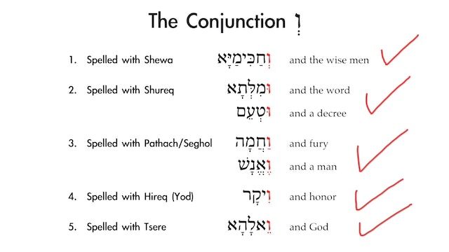 Basics of Biblical Aramaic - Session 7 - Conjunctions and Prepositions
