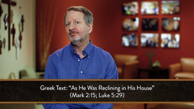 Mark - Session 11 - Mark 2:13-17
