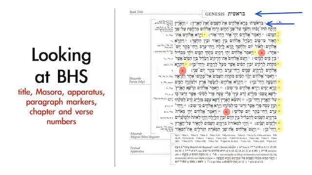 Basics of Biblical Hebrew - Session 3...