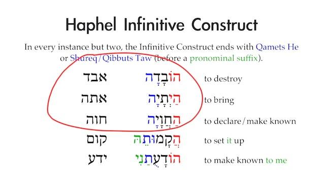 Basics of Biblical Aramaic - Session 21 - Haphel Stem