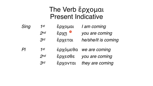 Reading Biblical Greek - Session 49 - The Verb ἔρχομαι