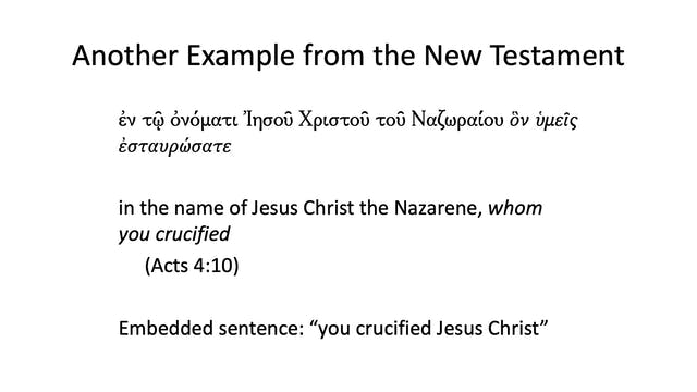 Intro to Biblical Greek - Session 9 -...