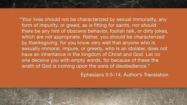 Ephesians (ZECNT) - Session 13 - Ephesians 5:3-14