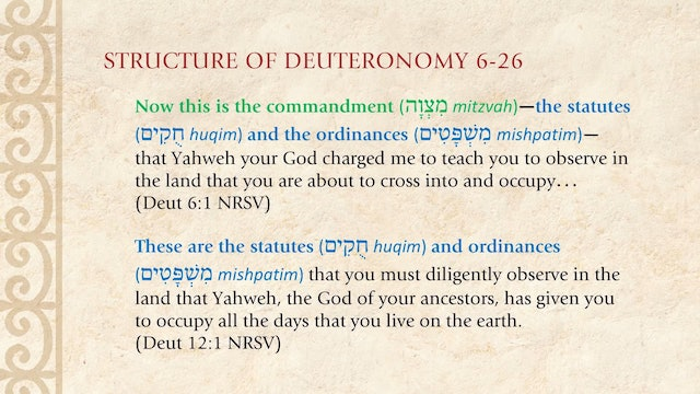 The Torah Story - Session 24 - Macroview of Deuteronomy