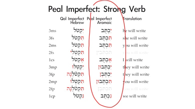 Basics of Biblical Aramaic - Session 14 - Peal Imperfect