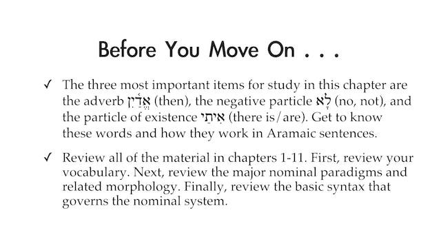 Basics of Biblical Aramaic - Session 11 - Adverbs and Particles