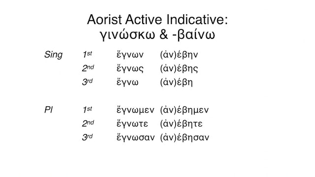 Reading Biblical Greek - Session 51 - Aorist Passive