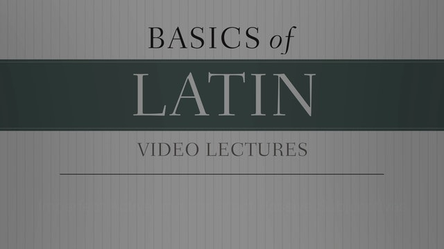 Basics of Latin -Session 21 - Imperfect Active and Imperfect Passive Subjunctive