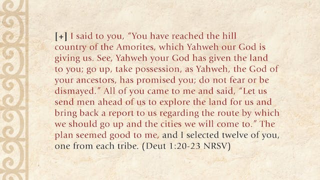 The Torah Story - Session 25 - The Words