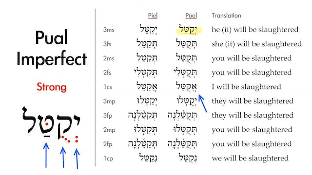 Basics of Biblical Hebrew - Session 3...