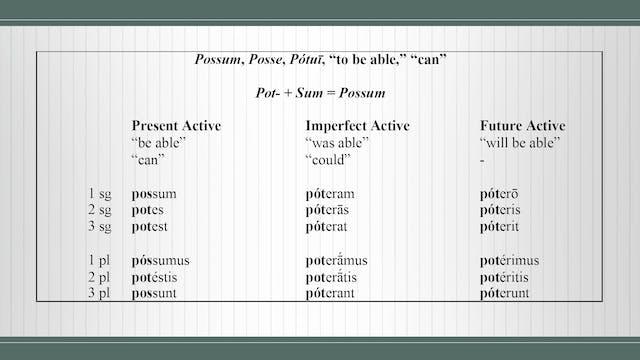 Basics of Latin - Session 13 - Irregu...