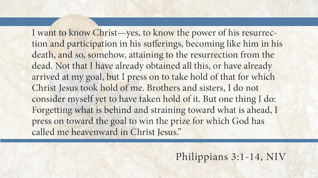 Philippians, A Video Study - Session 10 - Philippians 3:1-14