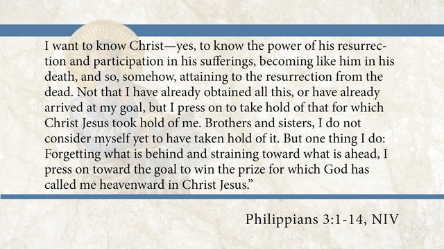 Philippians, A Video Study - Session 10 - Philippians 3:1-14
