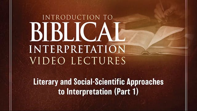 Introduction to Biblical Interpretati...