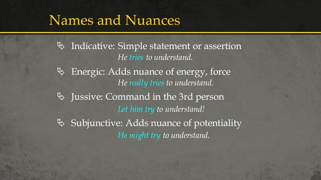 Basics of Ancient Ugaritic - Session 8: Moods