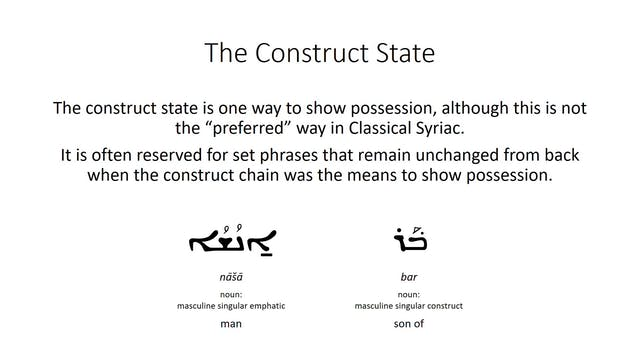 Basics of Classical Syriac - Session ...